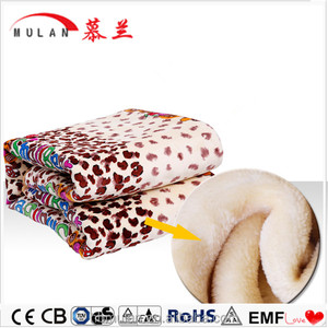 Washable Flannel fabric Double Electric Heating Blanket