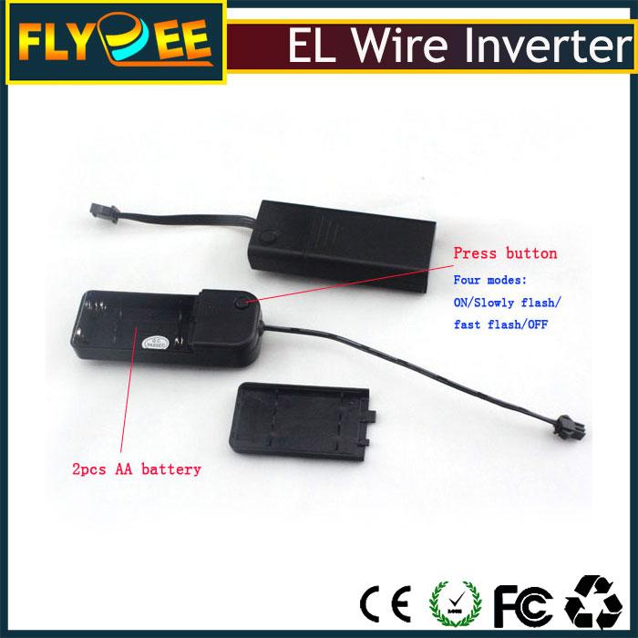 El Product Factory Portable Cheap 3v Battery Flash El Wire Power ...