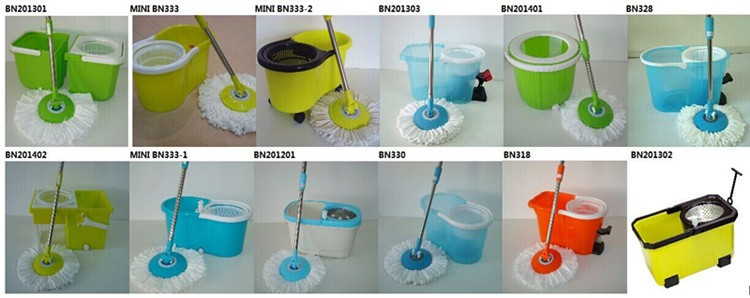 Plastic bucket with wringer 360 floor cleaner mop