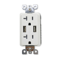 4.0A Ultra High Speed Dual USB Charger Outlet / Receptacle 15A/20A