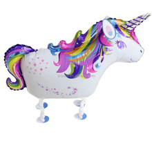 Helium Mylar tier form Walking einhorn Folienballon