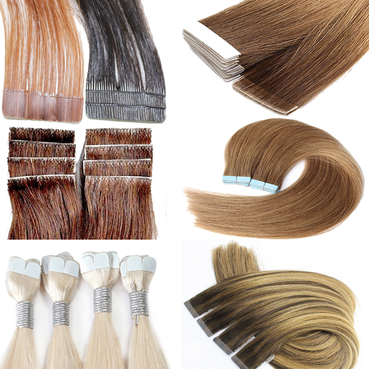 Double Drawn tape hair extension human hair cheap tape hair extension skin weft