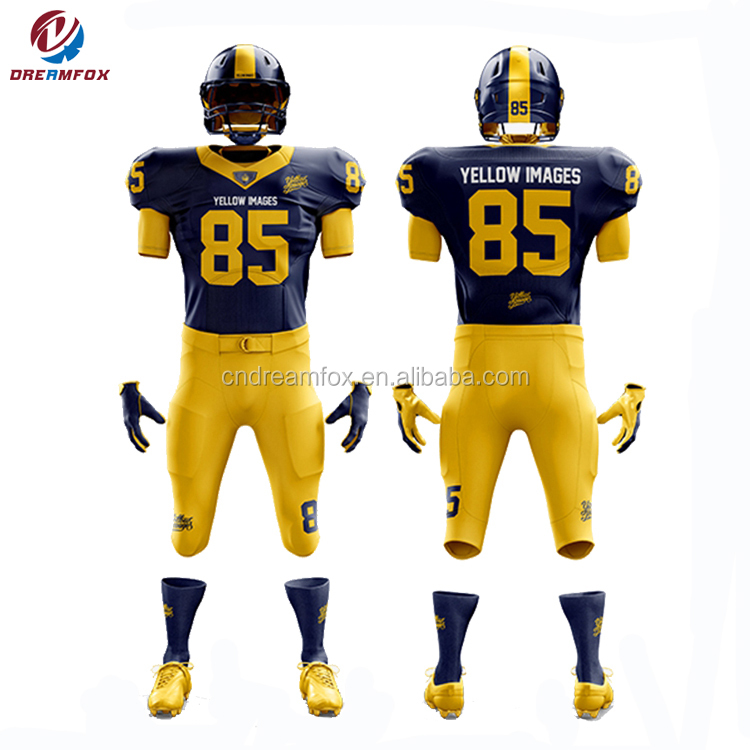 sublimation custom design american football uniforms/ High Quality Custom Made American Football Jersey