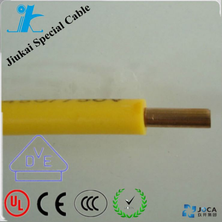 Fire Resistance Flat Electrical BV Earth Cablepvc Cable 4Mm2 Teflon And Rubber Insulation Stranded Copper
