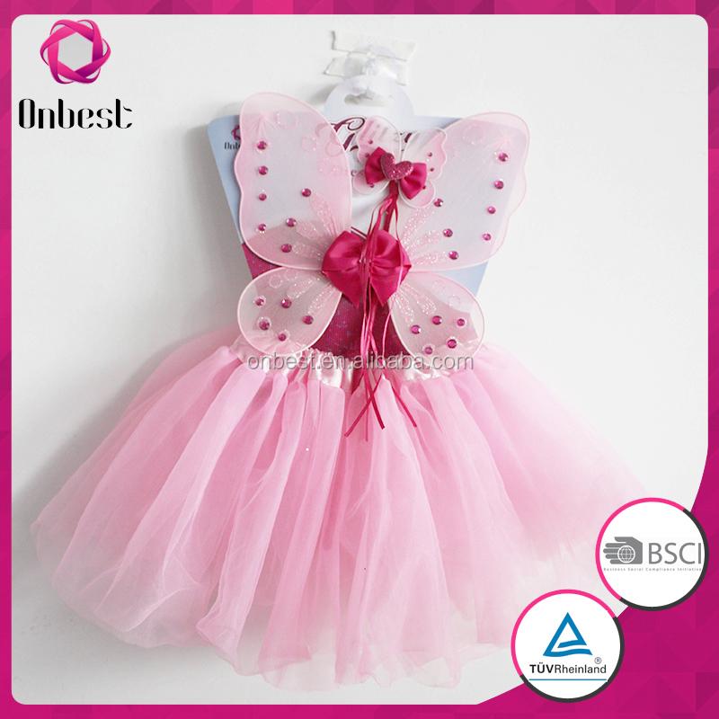 Venta caliente vestidos de novia con la mariposa rosa tutú de la ...