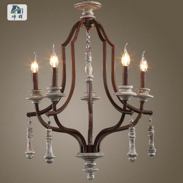 Mediterranean Style Lighting: America Vintage Mediterranean Style Rustic Art Red Wood