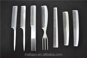 Private Logo Personalized Hair Comb Aluminum Pocket Combs
