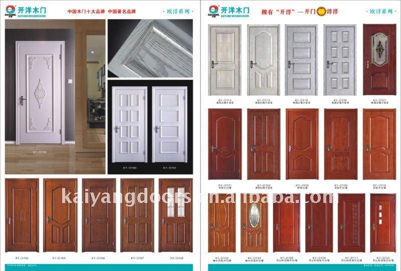 kaiyang interior hotel project solid wood meranti veneer raised panel pu painting door designer
