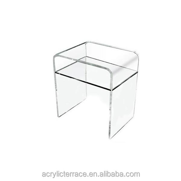 simple et l gant clair transparent plexiglas acrylique table de chevet 40 x 30 h 45 avec. Black Bedroom Furniture Sets. Home Design Ideas