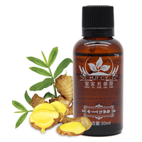 Private Label Available Lymphatic Drainage Herbal Massage Essential Ginger Roots Oil For Skin Care