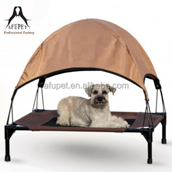 lunxry elevated raised pet dog sleep foldable outdoor dog bed portable pet bed with roof