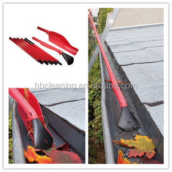easy reach gutter cleaning tool, garden leaf grabber with 5 section handles