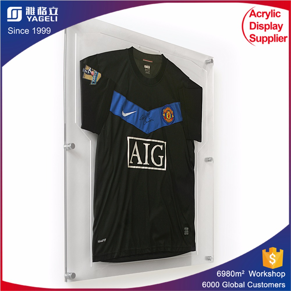 acrylic sport t shirt frame cases football jersey acrylic display case