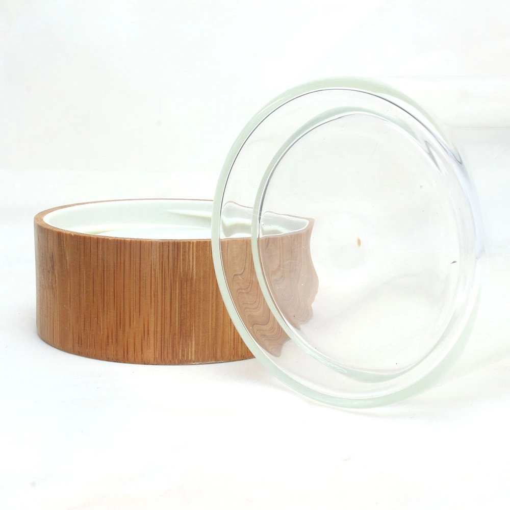 Double Wall Glass Water Bottle 450ml Bamboo Lid Drinking Glass with Tea Strainer