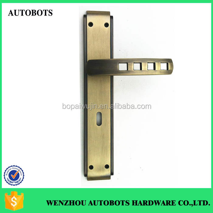 Wenzhou Autobots door Knob with Keys lock zinc alloy Lever Handle Lock