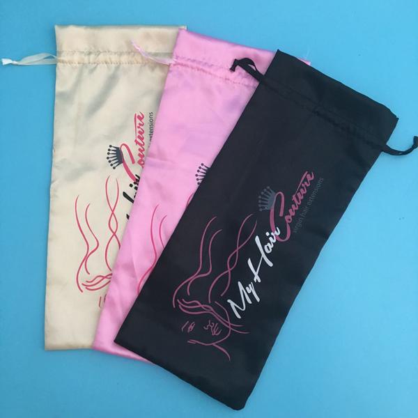 Whole Factory Custom Packaging 3 Bundles Hair Satin Bag Product On