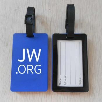 Projeto O Mais Novo Jw  Org Logotipo Impresso Etiqueta De Bagagem Pvc Macio  Para Presentes De Publicidade - Buy Jw  Org Etiqueta Da Bagagem Do