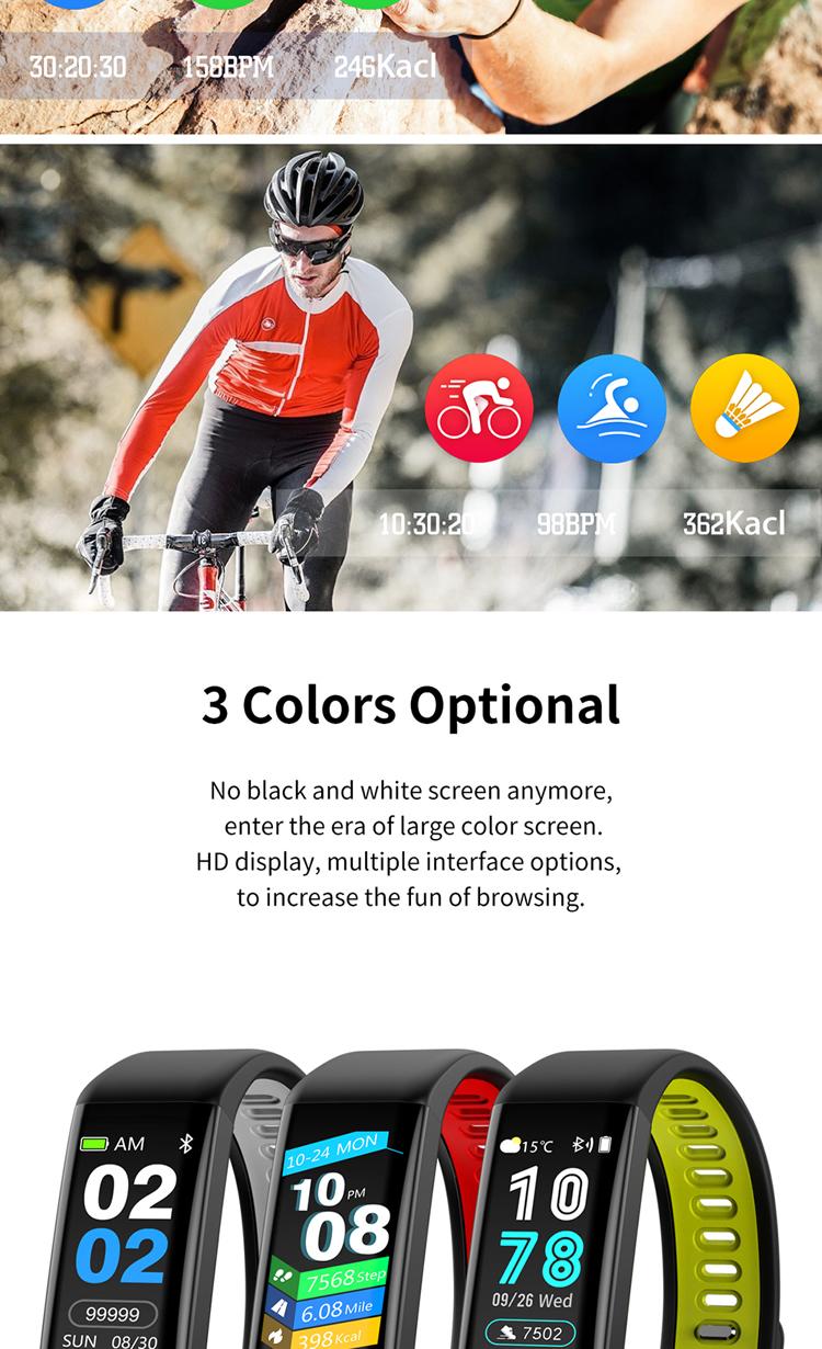 T02 New Sports Bluetooth Fitness Tracker Couple Smart Bracelet