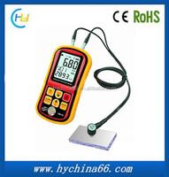 GM130 Digital LCD Ultrasonic Thickness Gauge Tester Depth Gauge + Sound Velocity Meter Range 1.00~300mm with Backlight