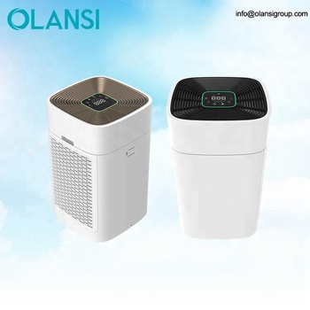 Light Sensor Air Purifiers Office Home Portable Ionizer Air Purifier With Hepa Filter