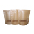 W180xH260+BG40mm(160mic) Wholesale different size stock bags/kraft paper food packaging bag with window