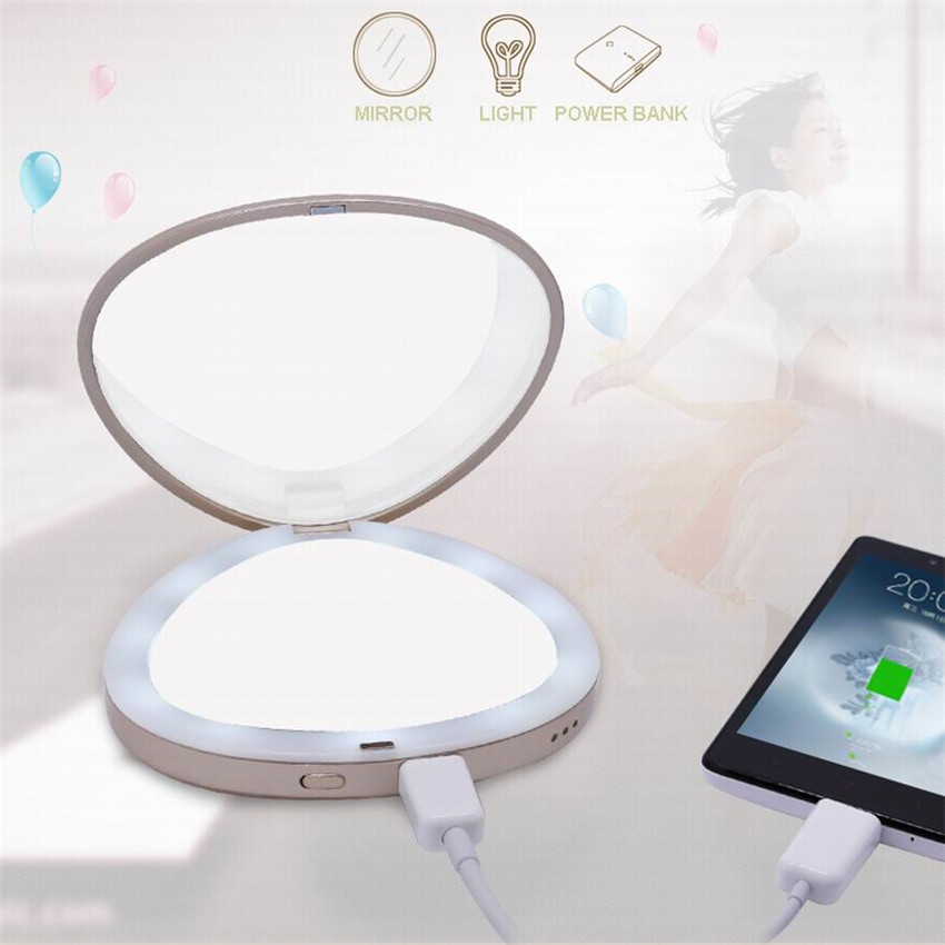 Top Selling Products of LED Makeup Mirror USB Power Portable Folding Vanity Cosmetic makeup Mirror