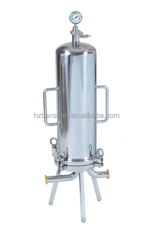 Virgin coconut oil filter machine/ Stainless steel cartridge filter housing for removing the particles in coconut oil