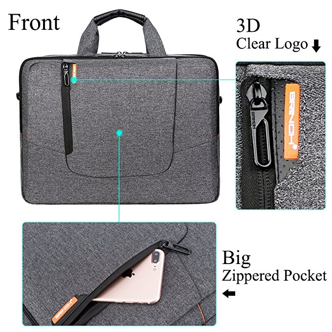 15.6 Inch Laptop Bag Large Capacity Water Resistant Mens / Womens Travel Business Laptop Briefcase Computer Shoulder Bag