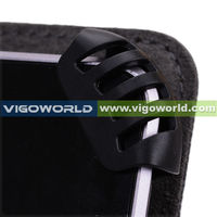 Black Universal Book Style Cover Case with Built-in Stand [Accord Series] for Motorola Xoom 2 8 Inch Tablet
