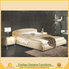 Home furniture white PU faux leather beds