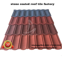 Wholesale Roofing Material Aluminum Zinc Stone Coated Metal Sheets Metro Tile Roofing