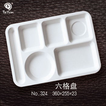 Plastic Melamine Divided School Lunch Plates