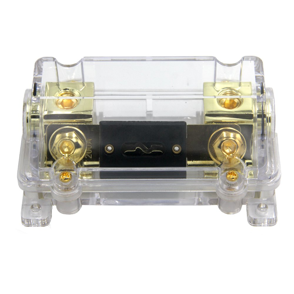 ZOOKOTO 200A Fuse Holder,Car Stereo Audio Inline ANL Fuse Holder 0 2 4 Gauge in out with 200 Amp Fuse