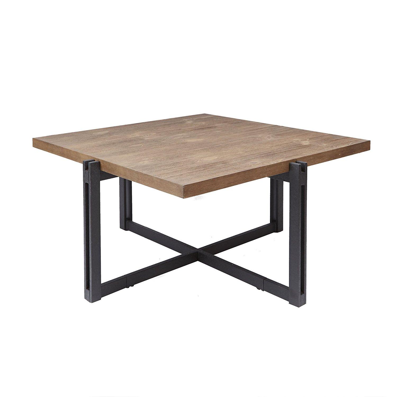 "Silverwood FT1275-COF-SWO Dakota Coffee Table with Square Top, 39"" L x 39"" W x 19.25"" H, Wood"