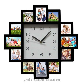 Hot Sell Large Photo Frame Wall Clock 2015 - Buy Photo Frame Wall ...