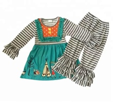 Boutique <span class=keywords><strong>Thanksgiving</strong></span> mädchen sets persnickety remake outfits herbst winter boutique tunika und rüschen hosen kinder outfits