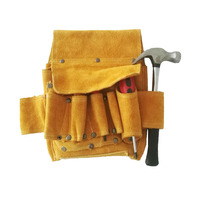 Safety Equipment Carpenter Belts Cow Leather Electrician Tool Pouch Bag with Waist Strap