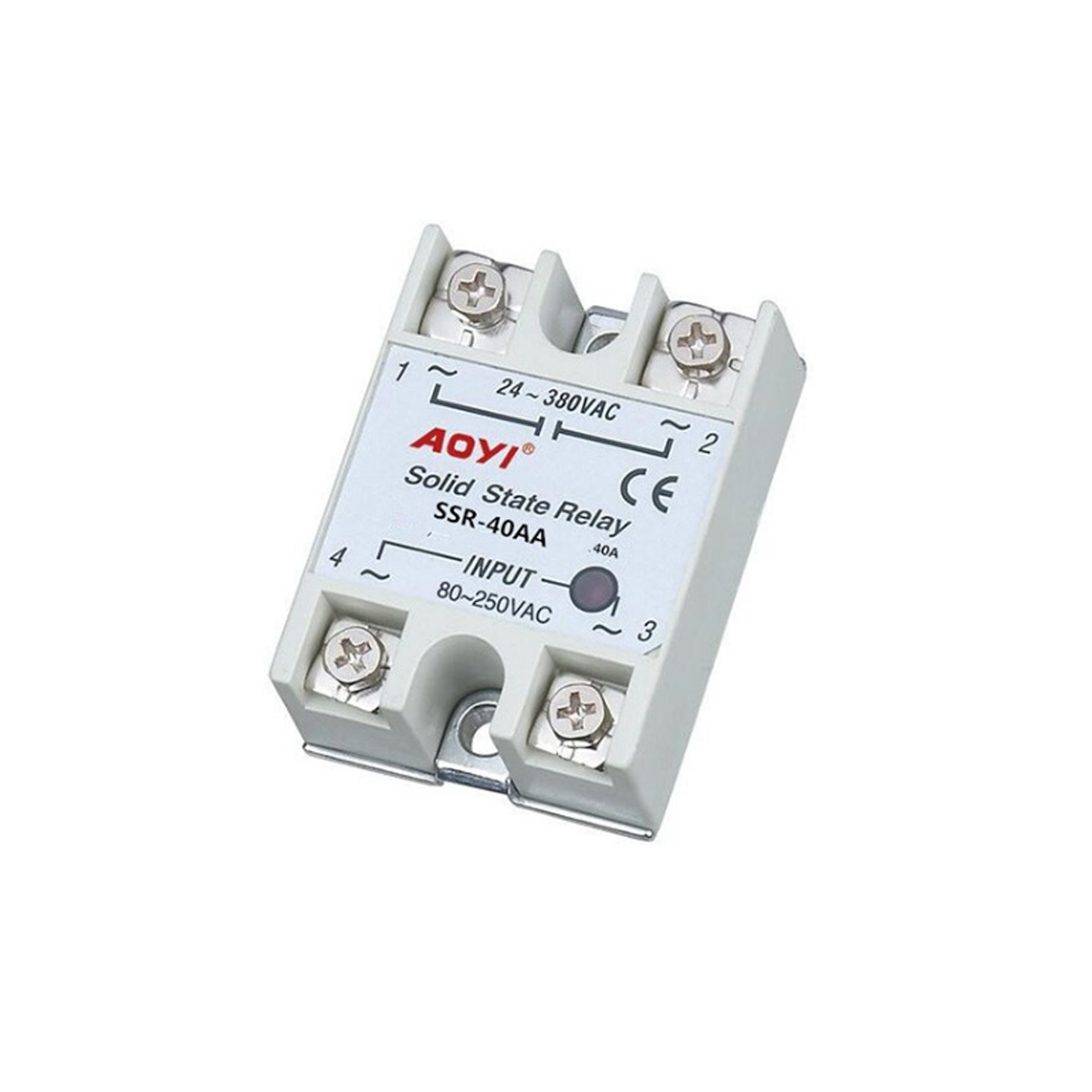 220v Ssr Solid State Relay 10a 25a 40a 60a 75a 90a - Buy 380vac Ac Ac Solid  State Relay,Solid State Variable Relay,24~380vac Single Phase Dc Solid