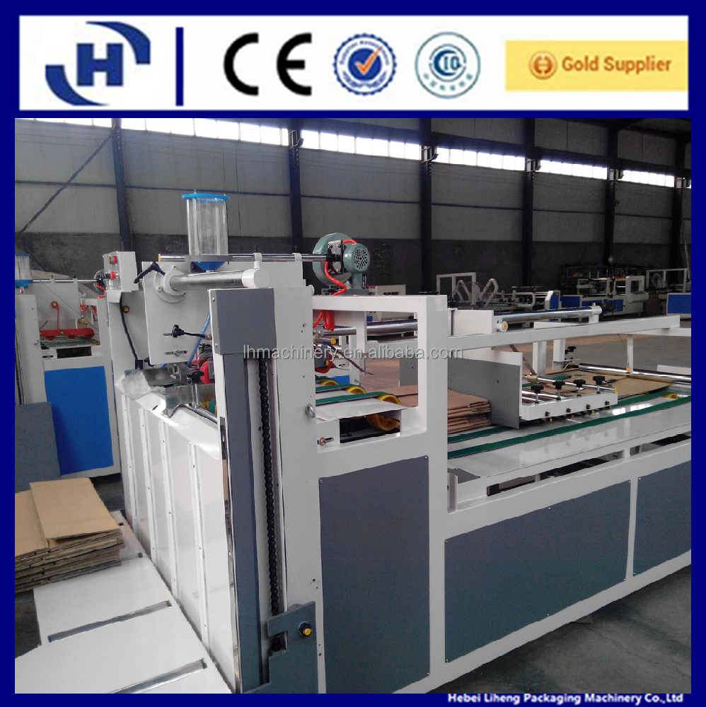 corrugated cardboard folding gluing machine/paperboard gluer/carton box forming machine