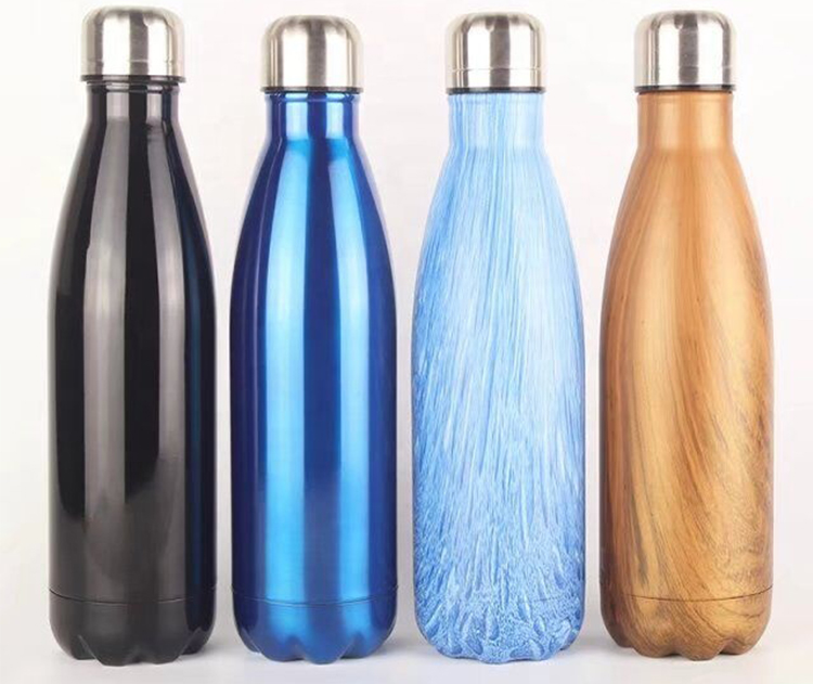 Double Wall Vacuum Flask Botol Insulated Stainless Steel Olahraga Air Minum Bowling Botol