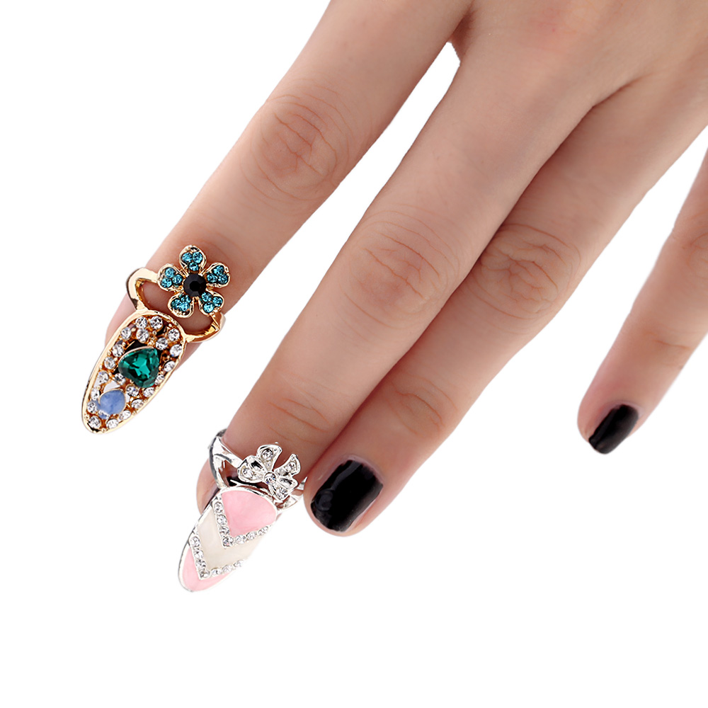Buy Fashion Fingernail Rings Design Beauty Cool Ring for Girl ...