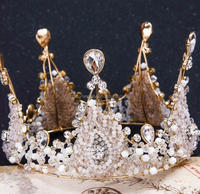 Vintage Style Of Colour Stone Rhinestone Crystal Beauty Pageant Crowns & Tiaras For Gentleman