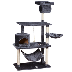 natural sisal wooden scratching foldable pet scratcher cat tree house