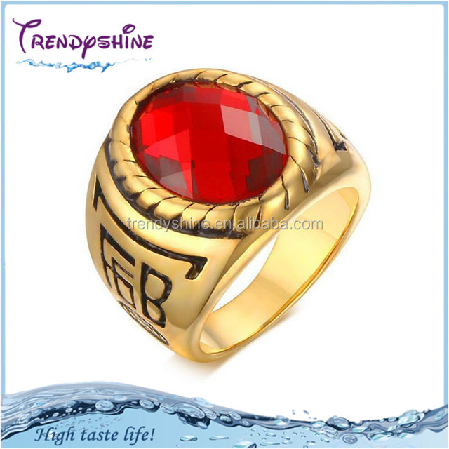 Buy Cheap China red stone gold ring Products Find China red stone