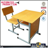 Cheap prices simple used classroom single study student desk table/ children school desk and chair set for sale