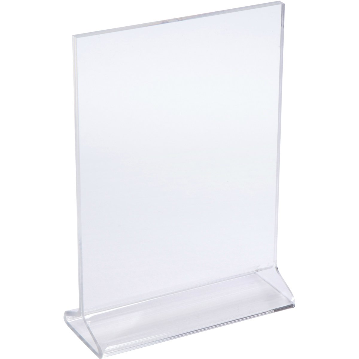 Elite Display Thick Acrylic Picture Frames 5x7, Clear Plastic Photo Frames, Sign Holders, Menu Holders, Display Stands (6-pack)