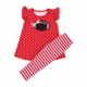 2018 Summer Fall New kids Clothing pearl tunic dress match stripe leggings sets polka dot baby girls outfits