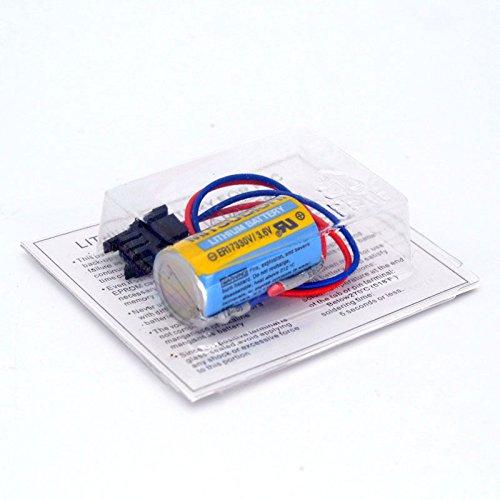 Eleoption Mitsubishi PLC Battery A6BAT ER17330V Size 2/3A 3.6V Li-ion Battery With Plug (1pcs)