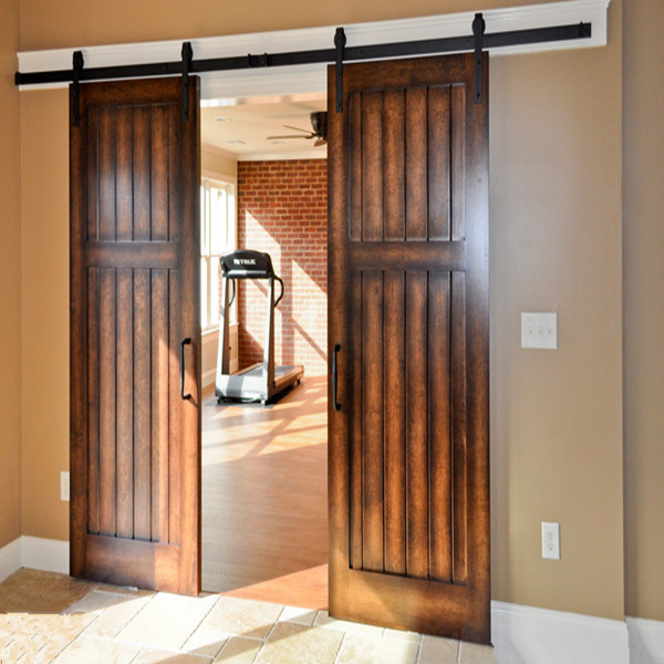 Interior Solid Double Glazed Sliding Barn Door Roller