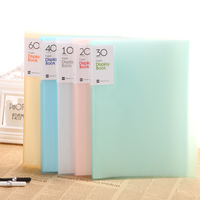 Multi Colors A4 10 20 30 40 60 80 100 pockets paper file document holder Clear display book